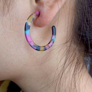 💦Acrylic Hoop Earrings - Speckled💦